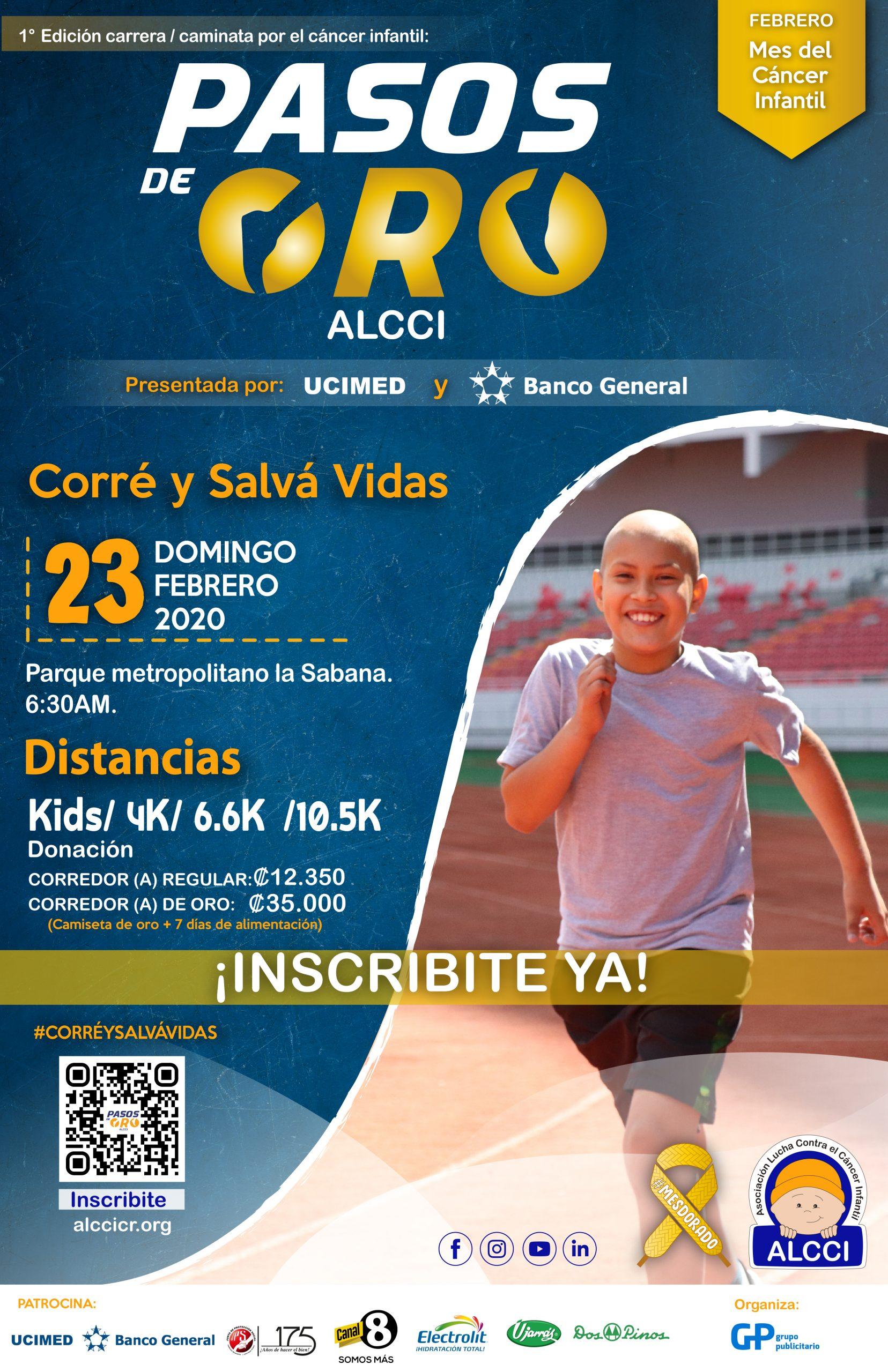 Carrera/caminata por el cáncer infantil Pasos de Oro ALCCI