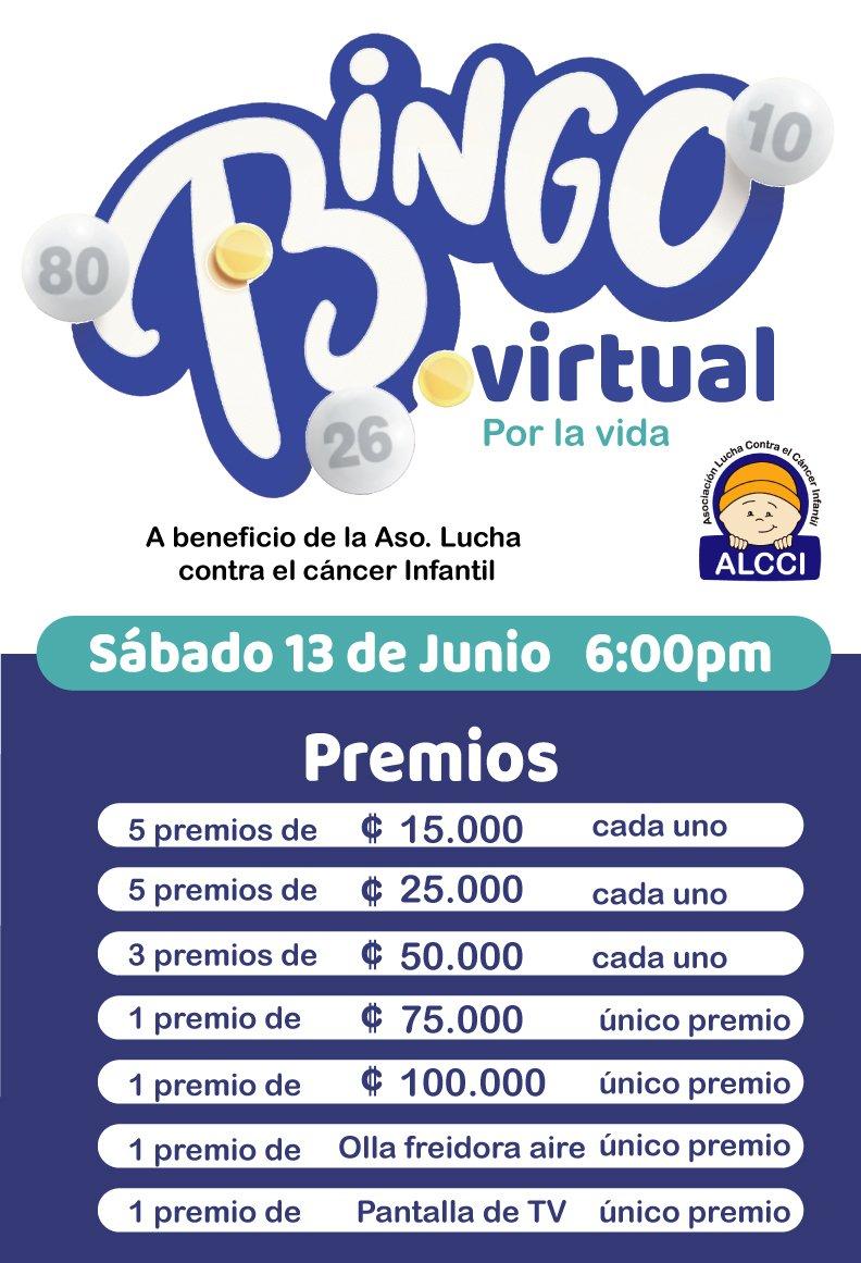 Bingo virtual por la vida ALCCI